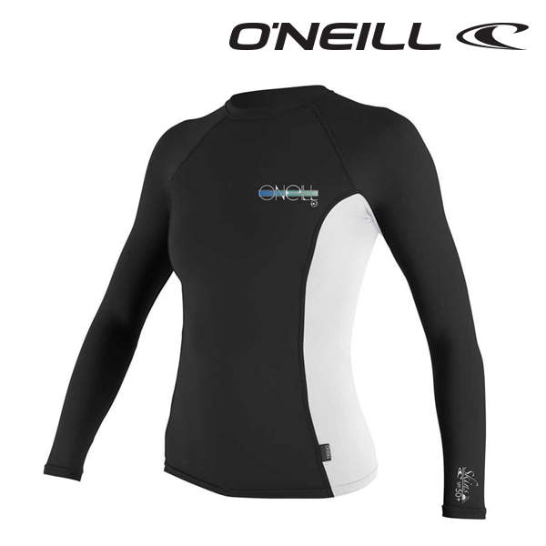 오닐 여성 래쉬가드 4172 W SKINS RASH GUARD - BLACK WHITE