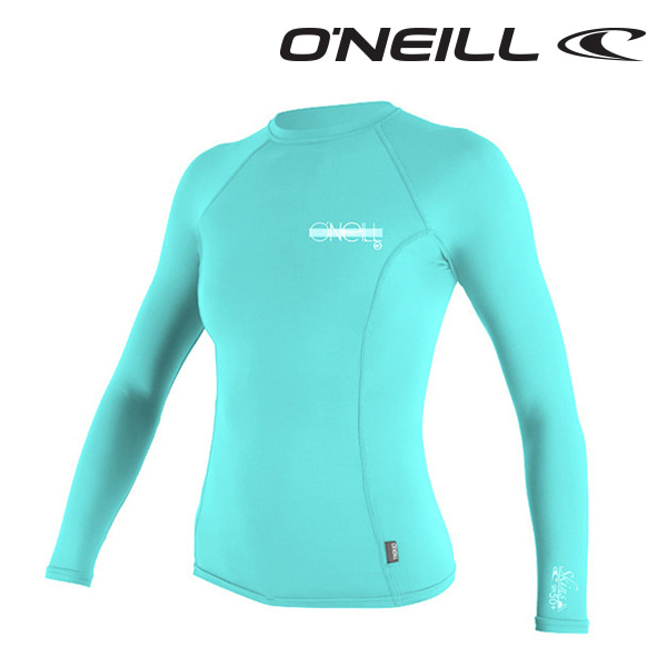 오닐 여성 래쉬가드 4172 W SKINS RASH GUARD - LIGHT AQUA