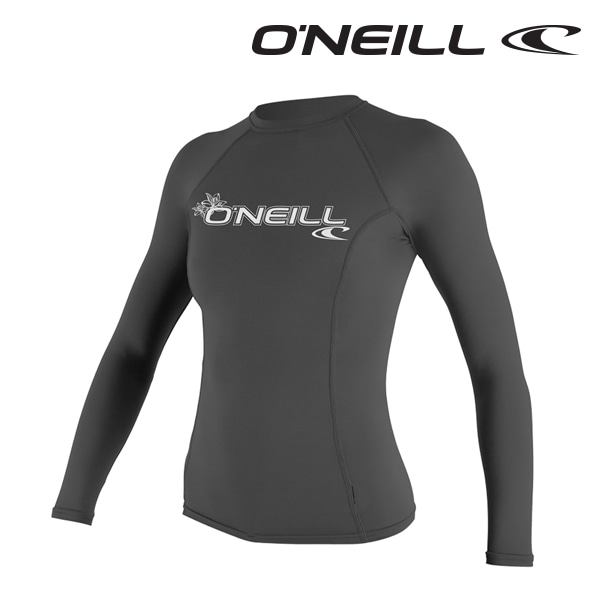 오닐 여성 래쉬가드 3549 W BASIC SKINS L/S RASH GUARD - BLACK