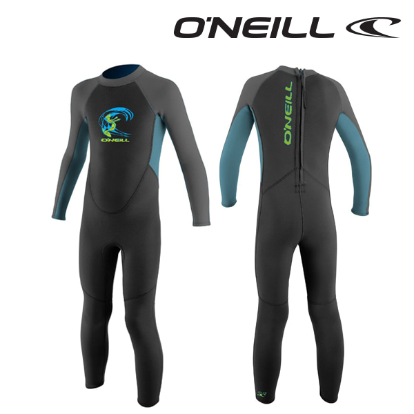 Oneill(오닐)리액터 2mm 유아 쥬니어 웻슈트 - 4868BG TODDLER REACTOR FULL 2MM - BLACK DBLUE GRAPH
