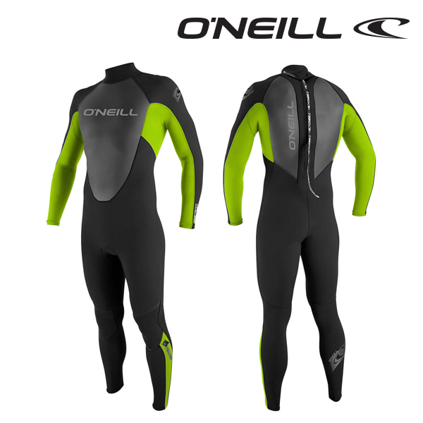 Oneill(오닐)리액터 3/2mm 어린이 웻슈트 - 3802OA YTH REACTOR 3/2MM - BLACK DAYGLO BLACK