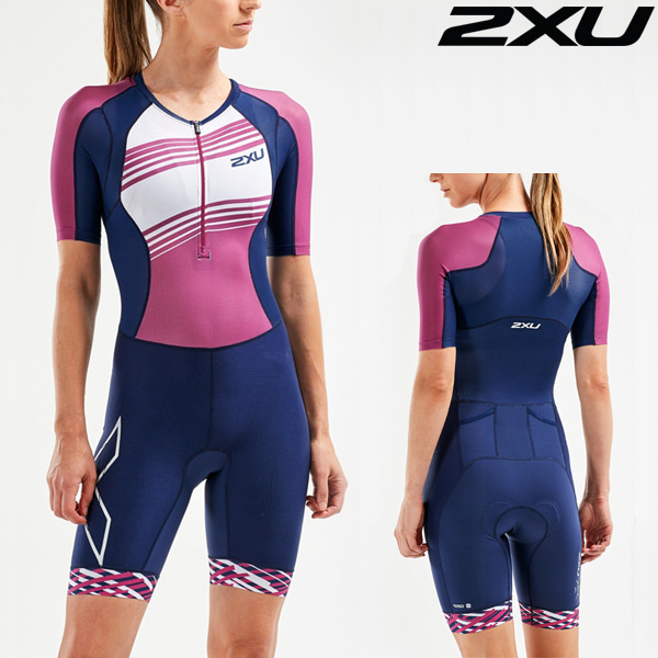 2XU 철인3종 경기복(원피스타입) Women's Compression Sleeved Trisuit-WT55221d-NVY/VBL