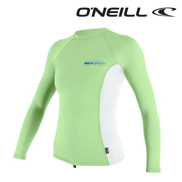 오닐 여성 래쉬가드 4172 W SKINS RASH GUARD - MINT WHITE