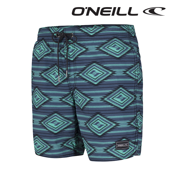 오닐 남성 보드숏 503222 THIRST FOR SURF BOARDSHORT - GREEN AOP