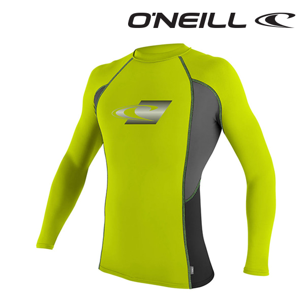 오닐 남성 래쉬가드 4684 SKINS GRAPHIC RASH GUARD - LIME GPH BLACK