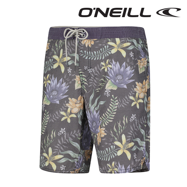 오닐 남성 보드숏 503136 OR NELUMBO BOARDSHORT - BLACK AOP