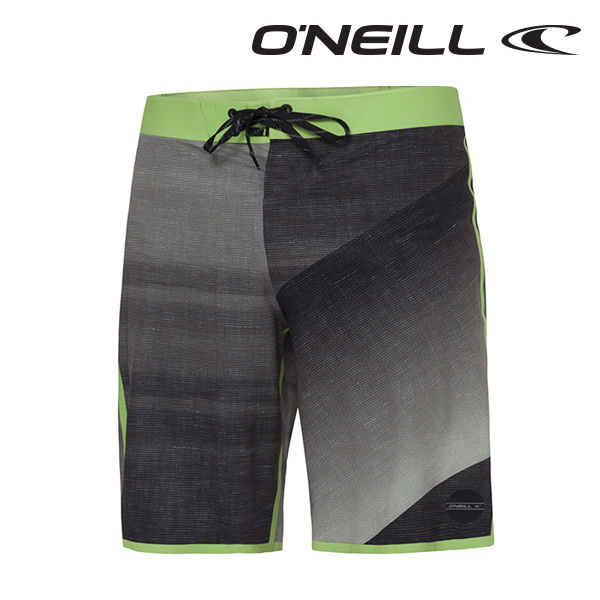오닐 남성 보드숏 503100 HYDRO FREAK BOARDSHORT - BLACK GREEN