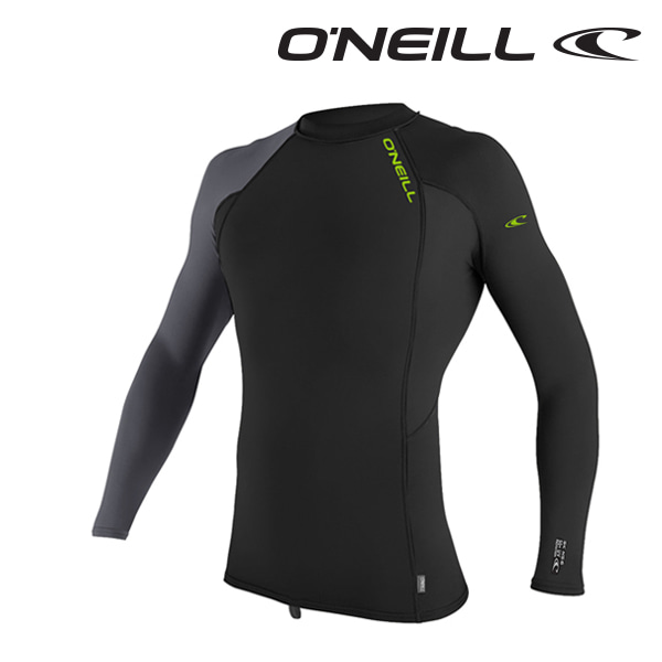 오닐 남성 래쉬가드 4485 SKINS GRAPHIC RASH GUARD - BLACK GRAPH