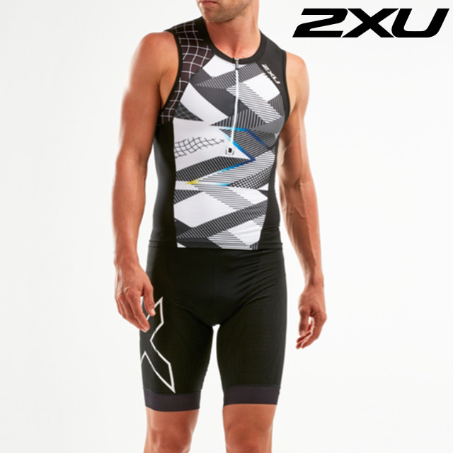 2XU 남성 철인3종 경기복 투피스 Men's Compression Tri Set MT5519a MT5520b BLK CRO