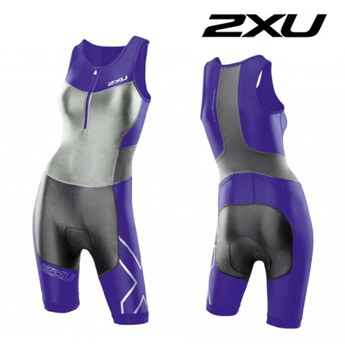 2XU(투엑스유)철인3종 경기복 Women's G:2 Compression Trisuit (WT2701d) Purple Hue Charcoal