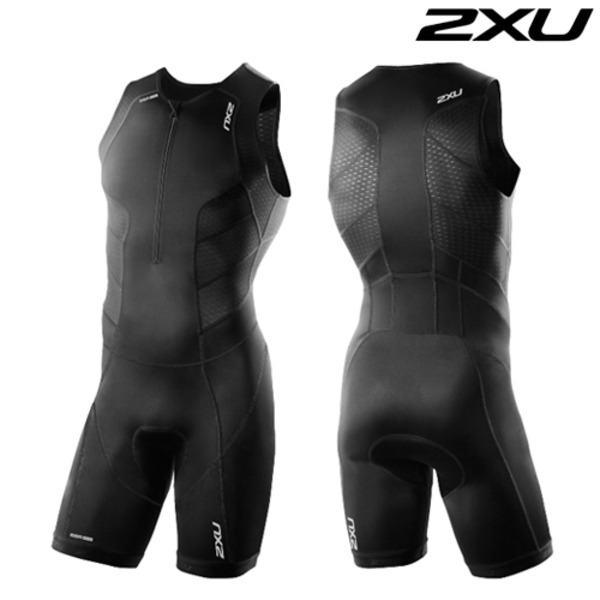 2XU(투엑스유)철인3종 경기복 Men's Perform Front Zip Trisuit- 2016 MT3858d(Black)
