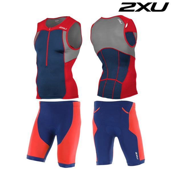 2XU 철인3종 경기복 Men's Active Tri Set- MT4362a(TRD_NVY)