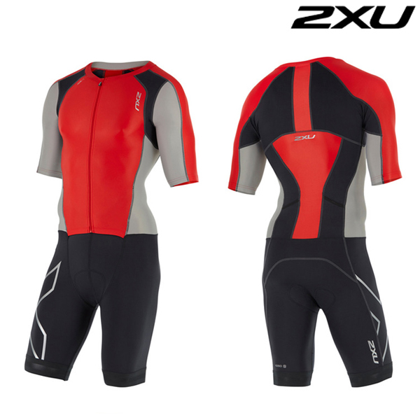 2XU 철인3종 경기복 Man's Compression Full Zip Sleeved Trisuit-MT4442d(FSC_FRG)