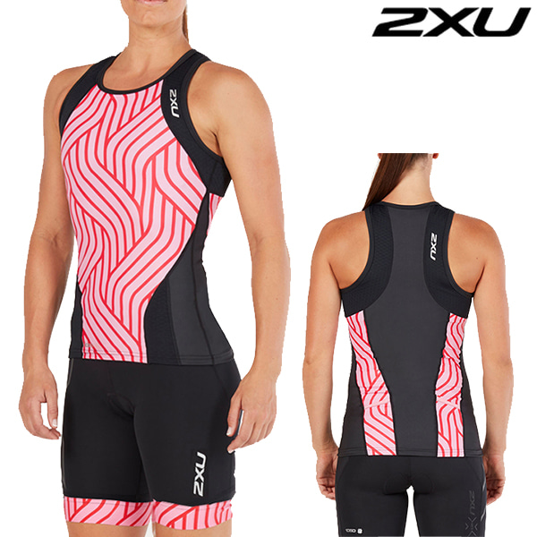 2XU 철인3종 경기복 Women's Perform Tri Set WT4857a/WT4861b(Black/Rose Pink Tide)