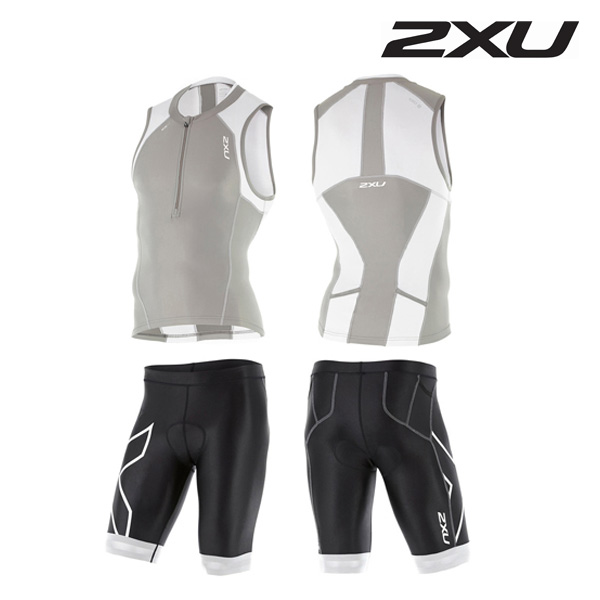 2XU 철인3종 경기복 Man's Compression Tri Set-MT4440a(FRG_WHT)