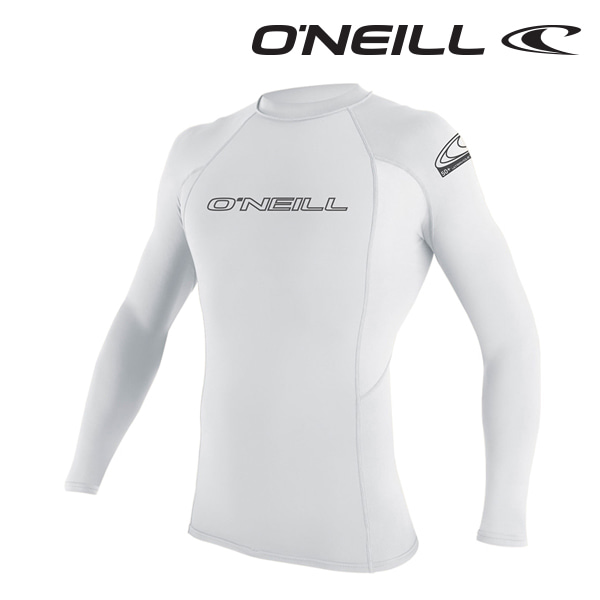 오닐 남성 래쉬가드 3342 BASIC SKINS L/S RASH GUARD - WHITE