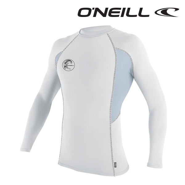 오닐 남성 래쉬가드 4684 SKINS GRAPHIC RASH GUARD - WHT FOGBLUE