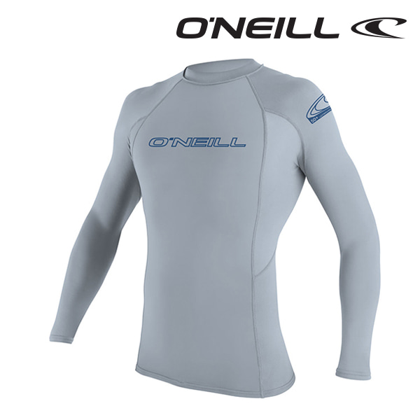 오닐 남성 래쉬가드 3342 BASIC SKINS L/S RASH GUARD - FOG BLUE