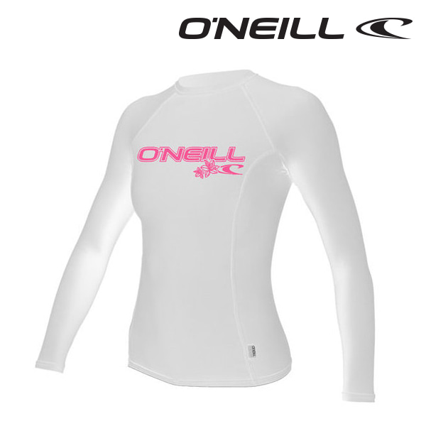 오닐 여성 래쉬가드 3549 W BASIC SKINS L/S RASH GUARD - WHITE