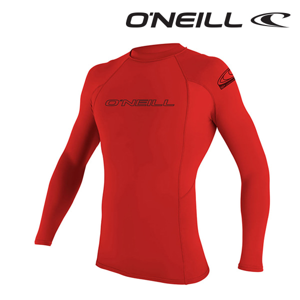 오닐 남성 래쉬가드 3342 BASIC SKINS L/S RASH GUARD - RED