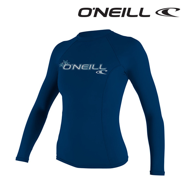 오닐 여성 래쉬가드 3549 W BASIC SKINS L/S RASH GUARD - DEEP SEA