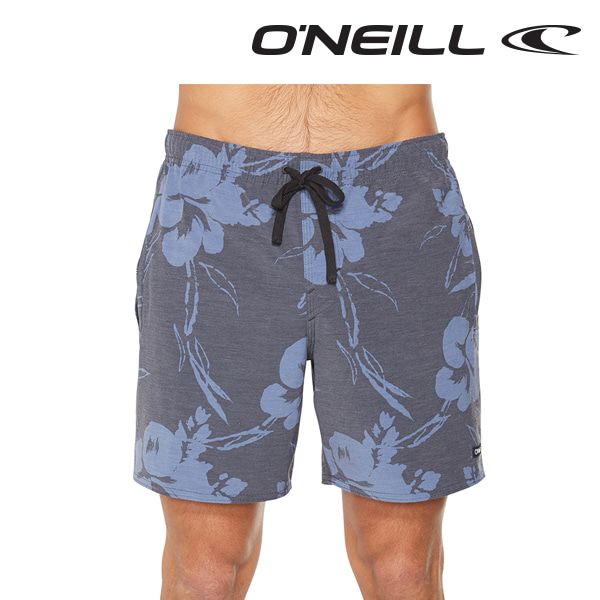 오닐 남성 보드숏 5211805 STRANGEDAYS SWITCH SLACKER BOARDSHORT - BLACK FLORAL