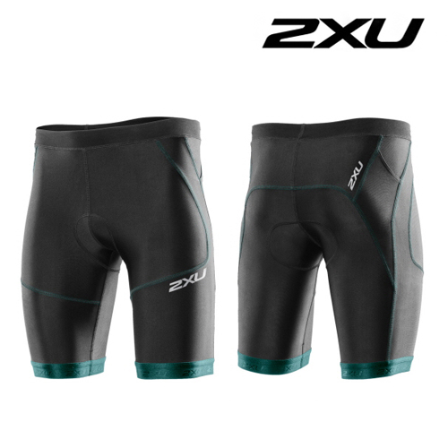 "2XU(투엑스유)철인3종 경기복  2XU Men's Perform 9"" Tri Short (MT2704b) Black Lagoon"