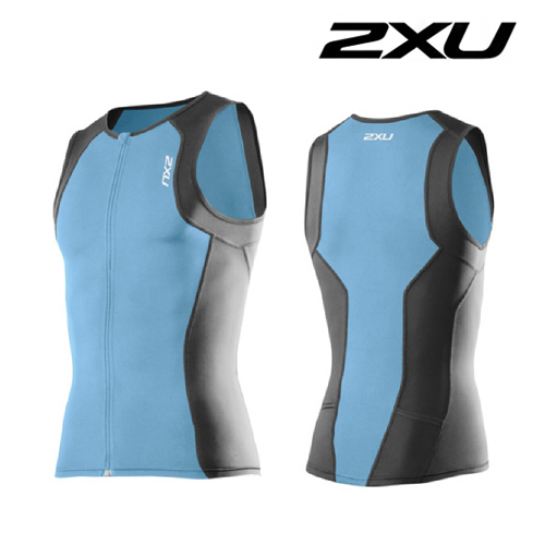 2XU(투엑스유)철인3종 경기복  2XU Men's G:2 Active Tri Singlet (MT3107a) Amalfi Charcoal