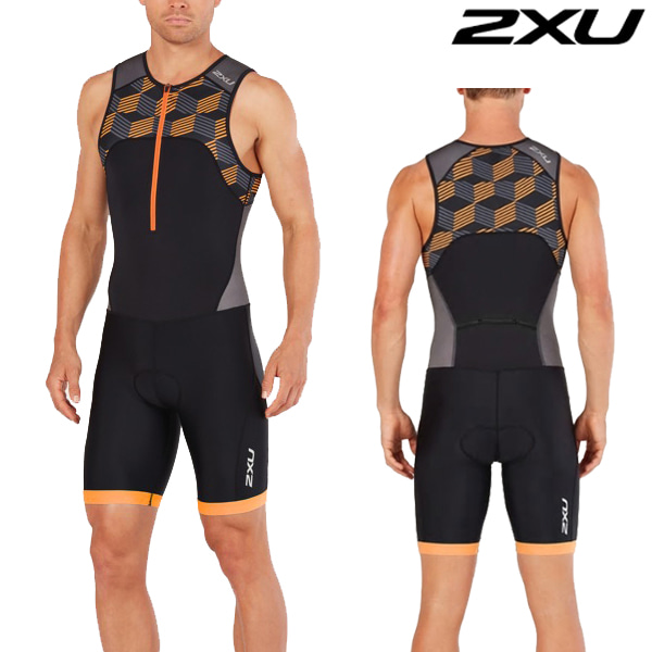 2XU 철인3종 경기복(원피스타입) Men's Active Trisuit-MT4862d(Black/Orange)
