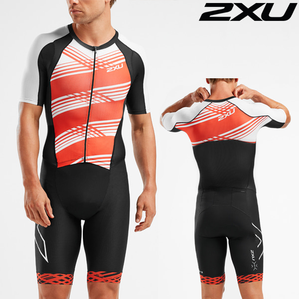 2XU 철인3종 경기복(원피스타입) Men's Compression Full Zip Sleeved Trisuit MT5516d-BLK/WFL