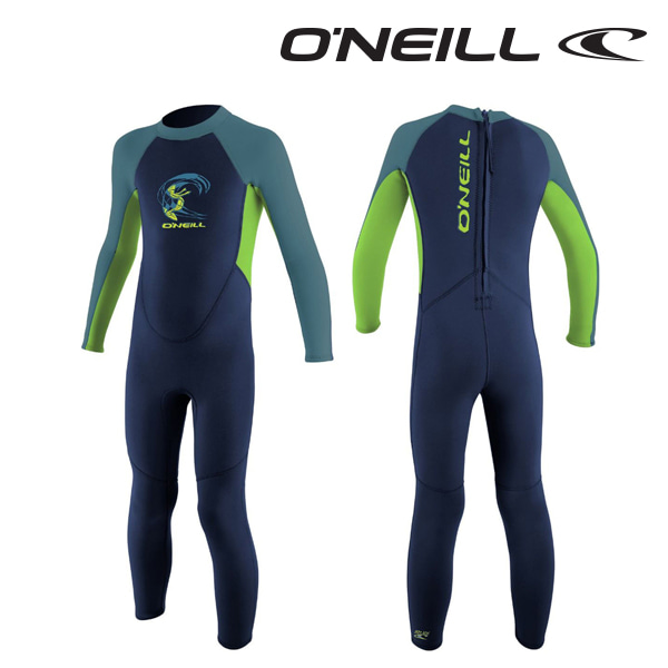 Oneill(오닐)리액터 2mm 유아 쥬니어 웻슈트 - 4868BG TODDLER REACTOR FULL 2MM - NVY DAYGLO DBLUE