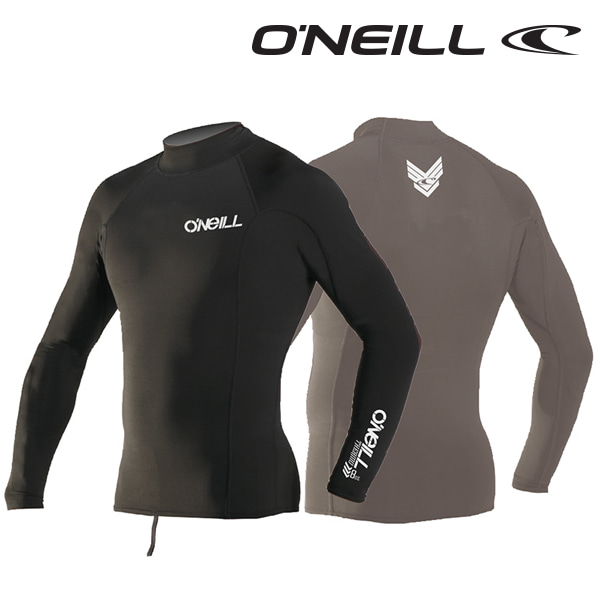 Oneill(오닐)남성 써모 발열 기능성 이너 기모 래쉬가드 - 0004 THERMO L/S CREW - A05 BLK/BLK/BLK