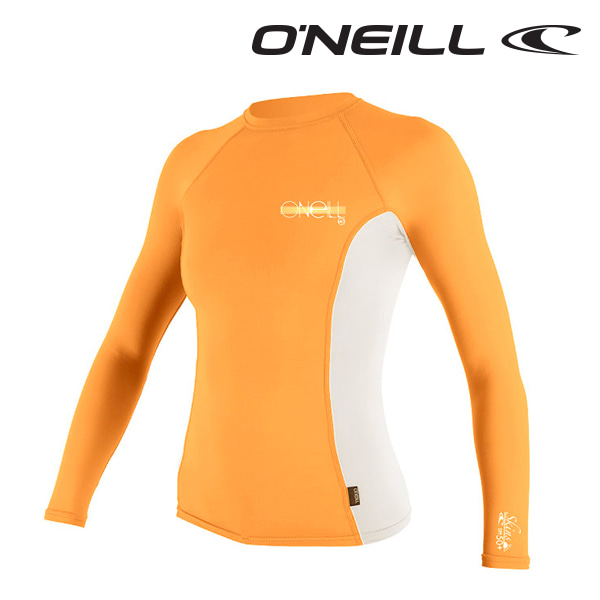 오닐 여성 래쉬가드 4172 W SKINS RASH GUARD - SORBET WHITE